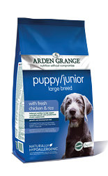 Arden Grange Puppy/Junior Large Breed: with fresh chicken and rice