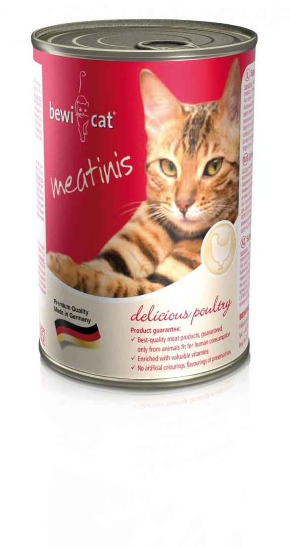 BEWI CAT meatinis rich in poultry