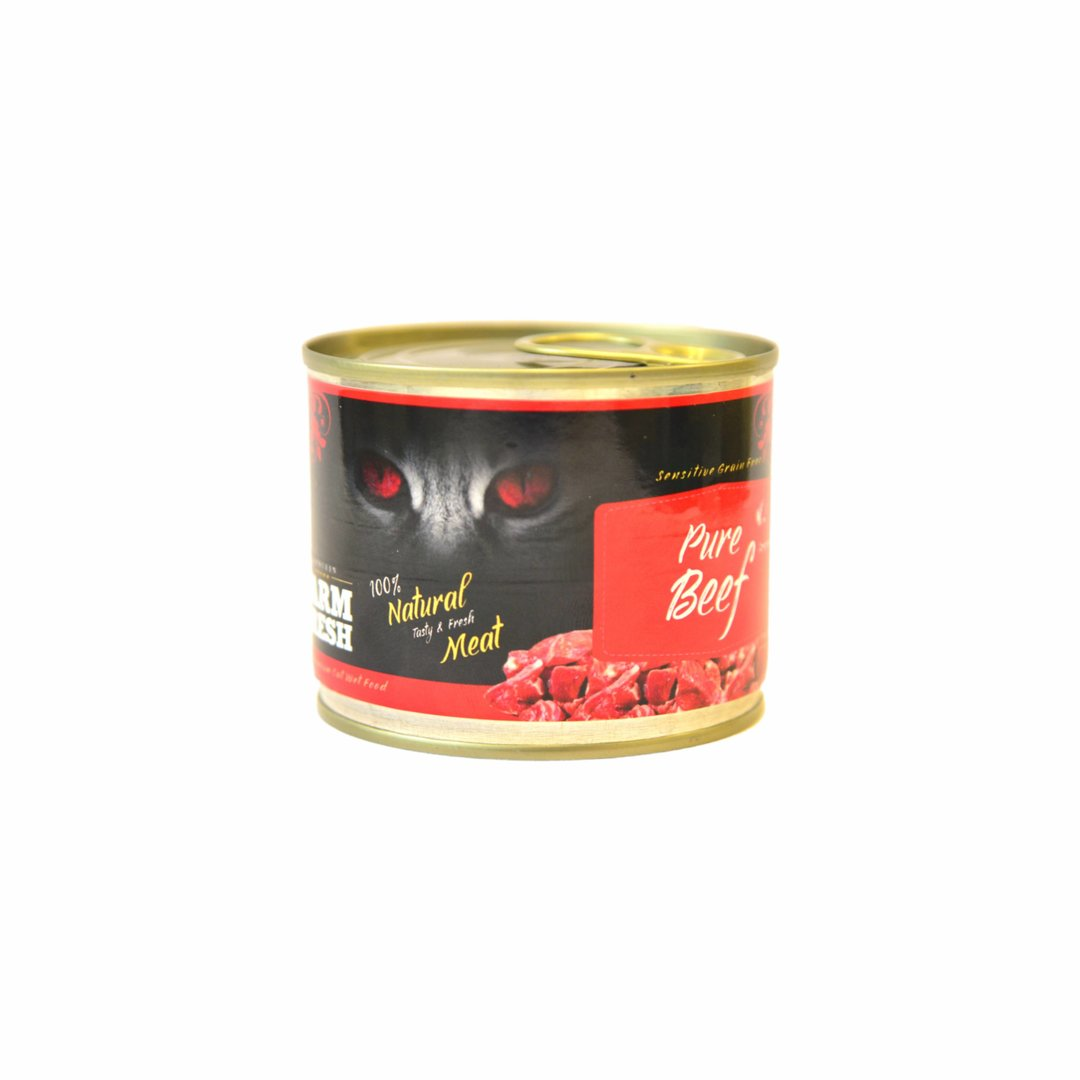 Farm Fresh Cat Pure Beef canned