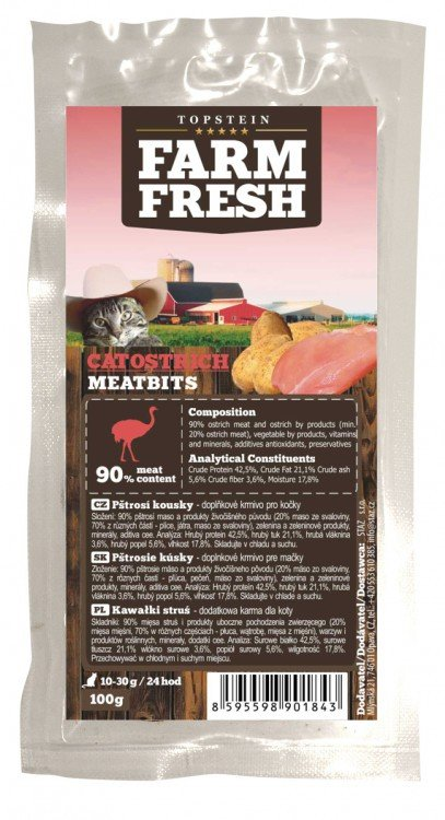 Farm Fresh Meatbits Cat Ostrich