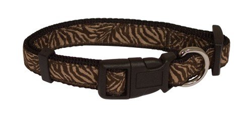 Staz Obojek Savane Nylon - Brown Zebra 21-34 cm x 16 mm