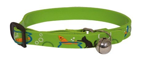 Obojek pro kočky 2D Adjustable Cat Collar - Green 18-30 cm x 11 mm