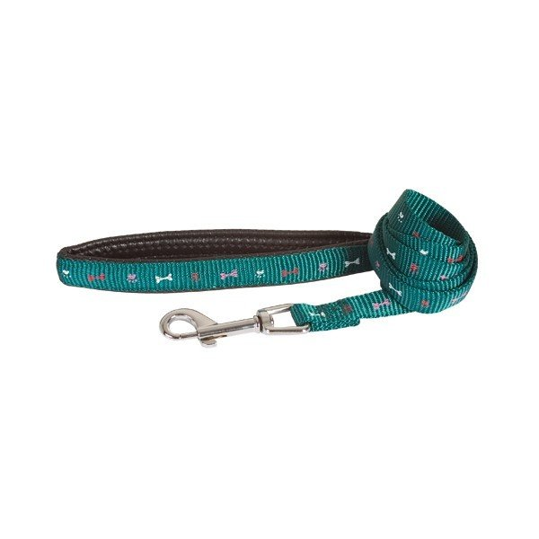 Vodítko Bones Nylon Comfort-Handle - Green