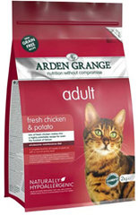 Arden Grange Adult Cat: fresh chicken & potato - grain free recipe 1