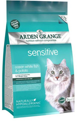 Arden Grange Sensitive Cat - Ocean White Fish and Potato - grain free recipe 1