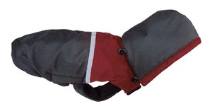 Obleček Bicolor Down Jacket with Hood - Black/Red