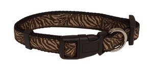 Obojek Savane Nylon - Brown Zebra 1