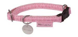 Obojek MC Leather Collar - Pink S1: 24-34 cm x 10 mm 1