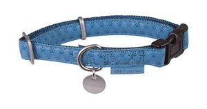 Obojek MC Leather Collar - Blue S2: 30-42 cm x 15 mm