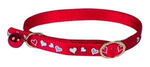 Obojek pro kočky ''Heart'' Reflecting Collar - Red 34 cm x 10 mm
