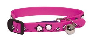 Obojek pro kočky 2D Adjustable Cat Collar - Pink 18-30 cm x 11 mm
